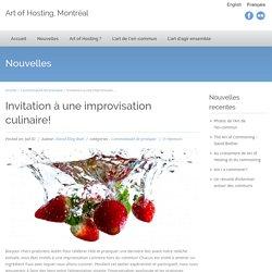 Invitation à une improvisation culinaire!