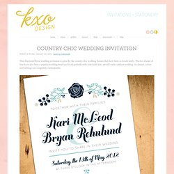 Custom Wedding Invitations, Modern Wedding Invitations, Custom Stationery