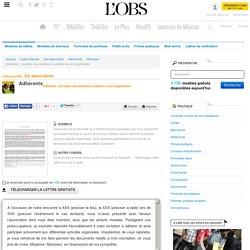 Adhésion : Accepter une invitation à adhérer à une organisation - Adhésion - ABC-Lettres par l'Obs