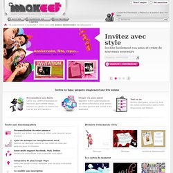 Invitation en ligne, organisez une fête unique·GRATUIT·Makeet