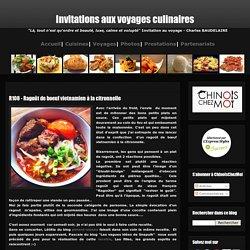 Invitations aux voyages culinaires: R108 - Ragoût de boeuf vietnamien à la citronnelle