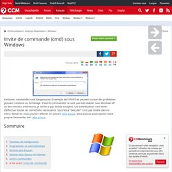 Liste des commandes Windows
