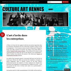 L'art s'invite dans les entreprises « culture art rennes