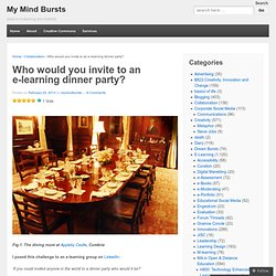 Who would you invite to an e-learning dinner party? | My Mind Bursts