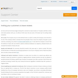 Inviting your customers to leave reviews – Support Center