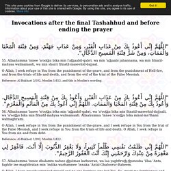 Invocations after the final Tashahhud and before ending the prayer