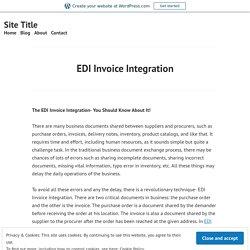 EDI Invoice Integration
