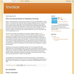Invoice: Why You Should Switch to Paperless Invoicing