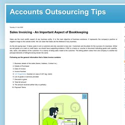 Outsource Bookkeeping Sales/Purchase Invoicing
