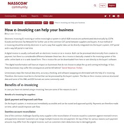 How e-invoicing can help your business - NASSCOM Community