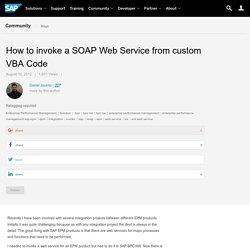 How to invoke a SOAP Web Service from custom VBA Code