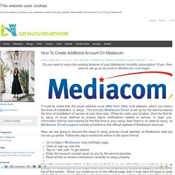 How To Create Additional Account On Mediacom?