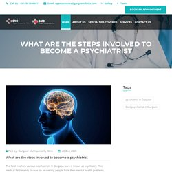 What are the steps involved to become a psychiatrist