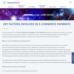 Key Factors Involved in E-commerce Payments