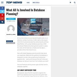 What All Is Involved In Database Planning?