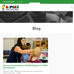 Are you involved in your Child's Daycare or Child Care Centre?