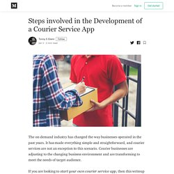Steps involved in the Development of a Courier Service App