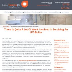There Is Quite A Lot Of Work Involved In Servicing An LPG Boiler