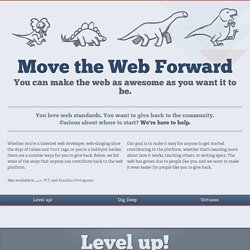 Move The Web Forward | Guide to getting involved with standards and browser development