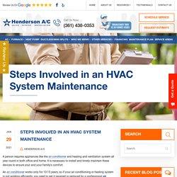 Steps Involved in an HVAC System Maintenance
