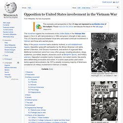 Opposition in the U.S. involvement in the Vietnam War