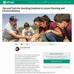 Tips and Tools for Involving Students in Lesson Planning and Content Delivery