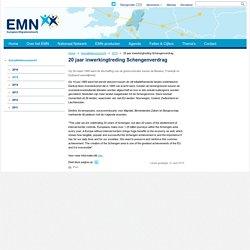 Europees Migratienetwerk - 20 jaar inwerkingtreding Schengenverdrag