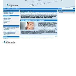 io-port.net - The world-wide Informatics-Database for scientific-technical Information
