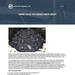 Potassium Iodide Products - Attachetrading.com