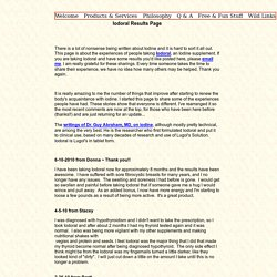 Iodoral Results Page