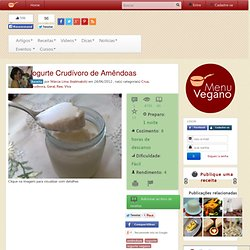 Iogurte Crudívoro de Amêndoas