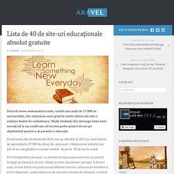 Lista de 40 de site-uri educaționale absolut gratuite