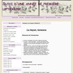 Ionesco, La Leçon, Extrait 2