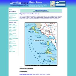Map of Ionian Islands Maps of Greece