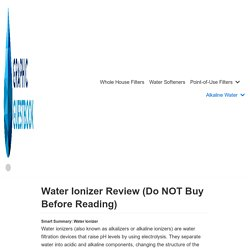 Water Ionizer Review: Here's The Best Alkaline Water Machine « Healthy Water Review