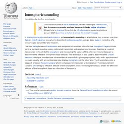 Ionospheric sounding - Wikipedia