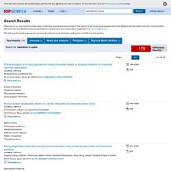 IOPscience - search results