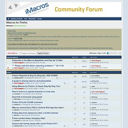 View forum - iMacros for Firefox