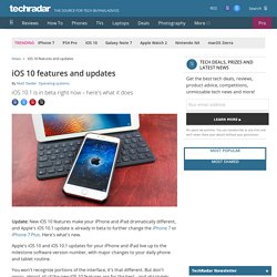 iOS 10 features and updates