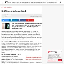 iOS 11 : ce que l'on attend
