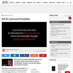 iOS13: comment l'installer