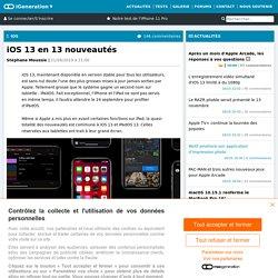 iOS13 en 13 nouveautés