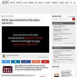iOS13: que contient la mise à jour iOS13.1.3?