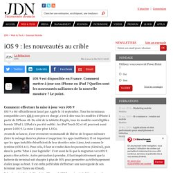 iOS 9 : ce que l'on peut attendre - JDN