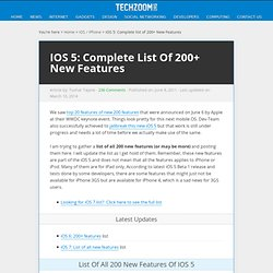 iOS 5: Complete list of 200+ New Features | TechZoom