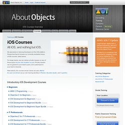 Course List - About Objects