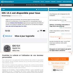 iOS13.1 est disponible pour tous