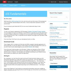 iOS Fundamentals - Dice Insights
