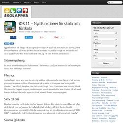 iOS 11 - Nya funktioner för skola och förskola