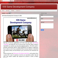 IOS Game Development Company: IOS Game Development Company In USA